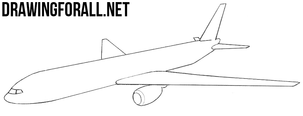 How to Draw a Plane | Drawingforall.net