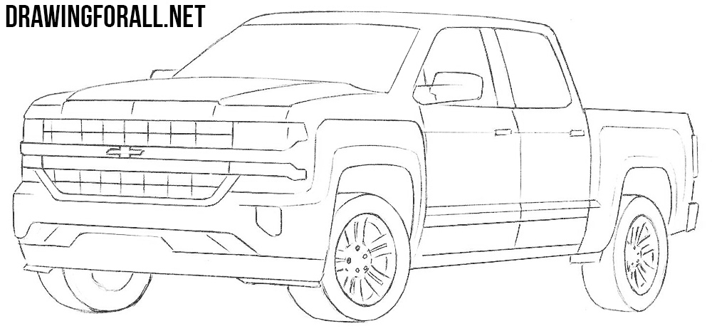 How To Draw A Chevy Silverado Drawingforall Net