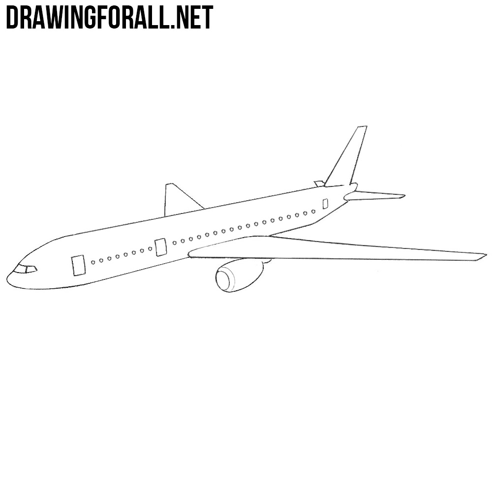 How To Draw A Plane Drawingforall Net