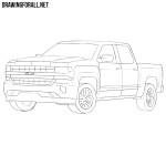 How to Draw a Chevy Silverado