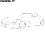 How to draw a Mercedes Electric SLS