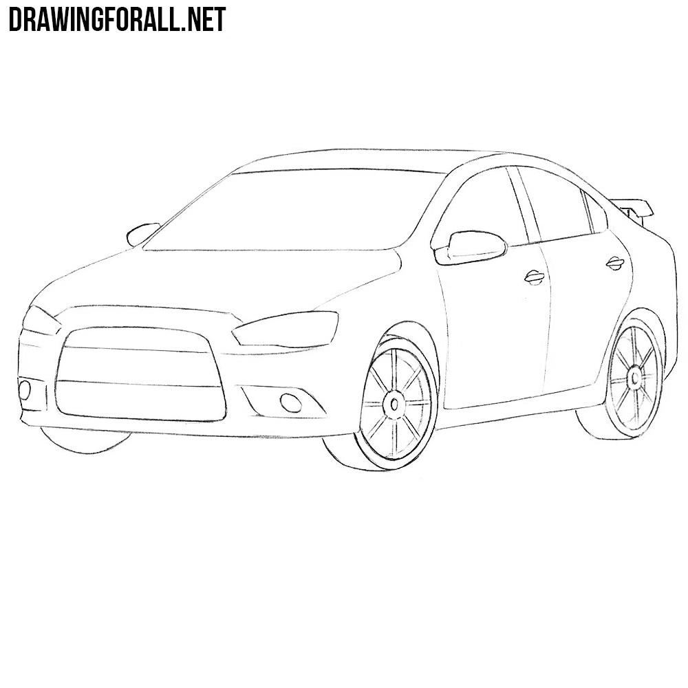 How to Draw a Mitsubishi Lancer