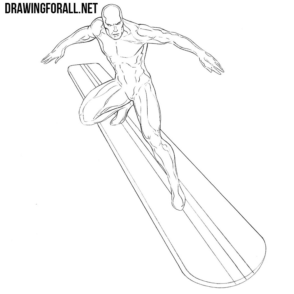 How to Draw the Silver Surfer | Drawingforall.net