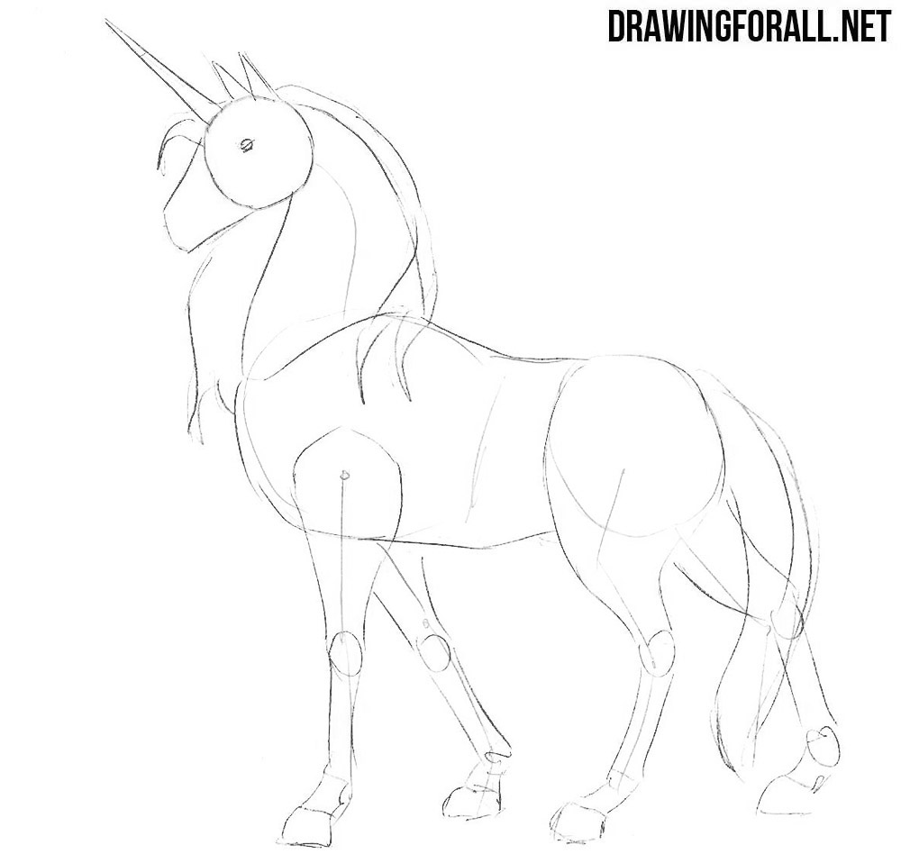 Easy Pictures To Draw Step By Step Unicorn
