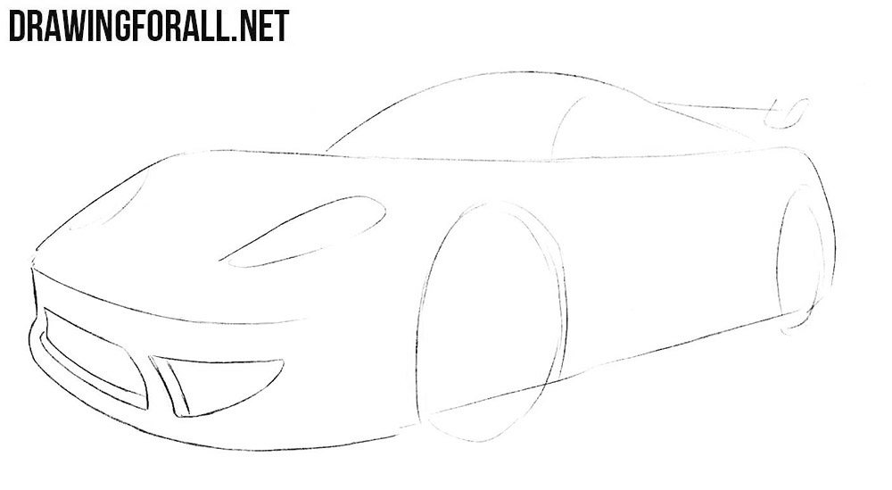 How To Draw A Cartoon Sports Car Drawingforall Net