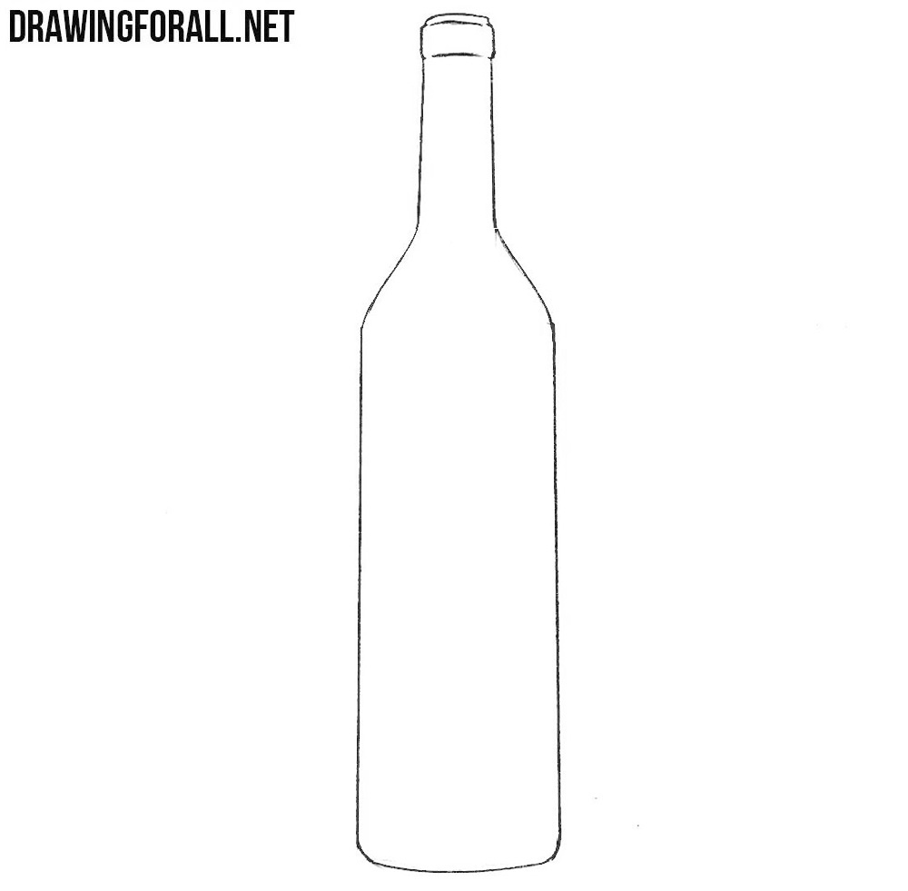This is a photo of Dynamic Drawing Of Bottle