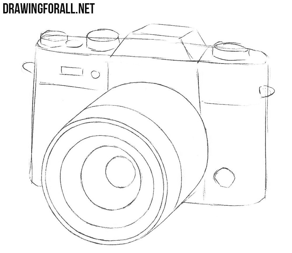 It's just a photo of Astounding Camera Drawing Step By Step