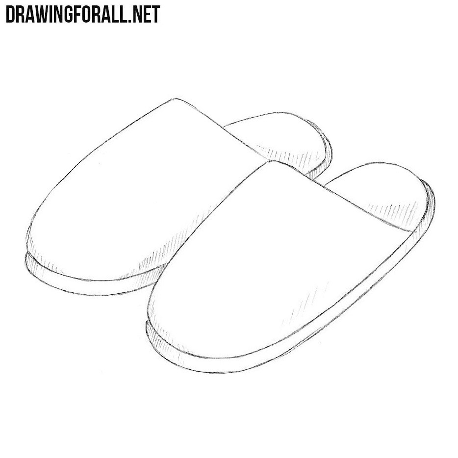 How to Draw Slippers