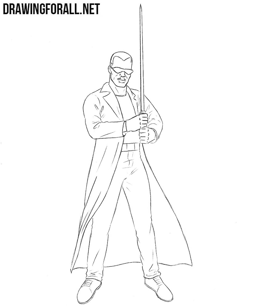 blade drawing how to draw blade from marvel drawingforall net 3687