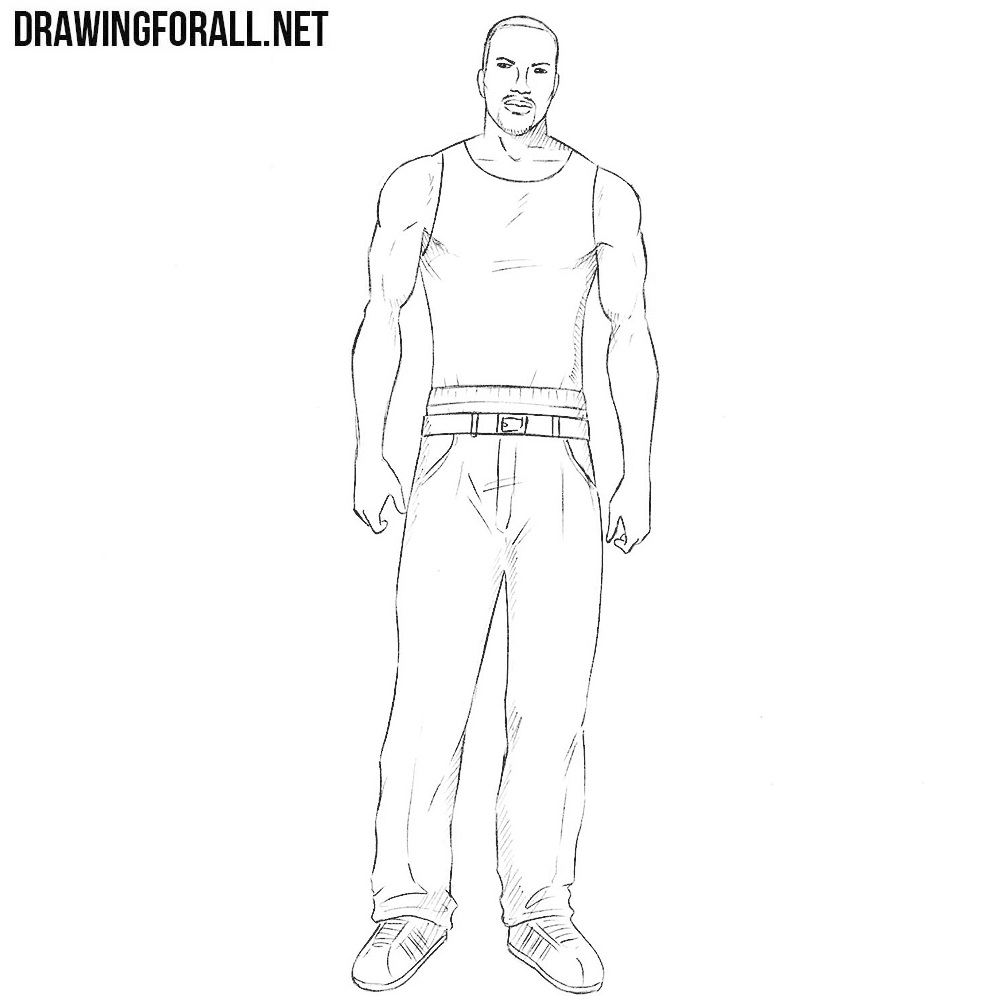How to Draw Carl Johnson
