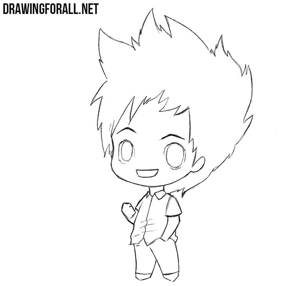 how to draw a chibi boy