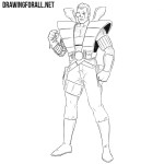 How to Draw Cable from Marvel