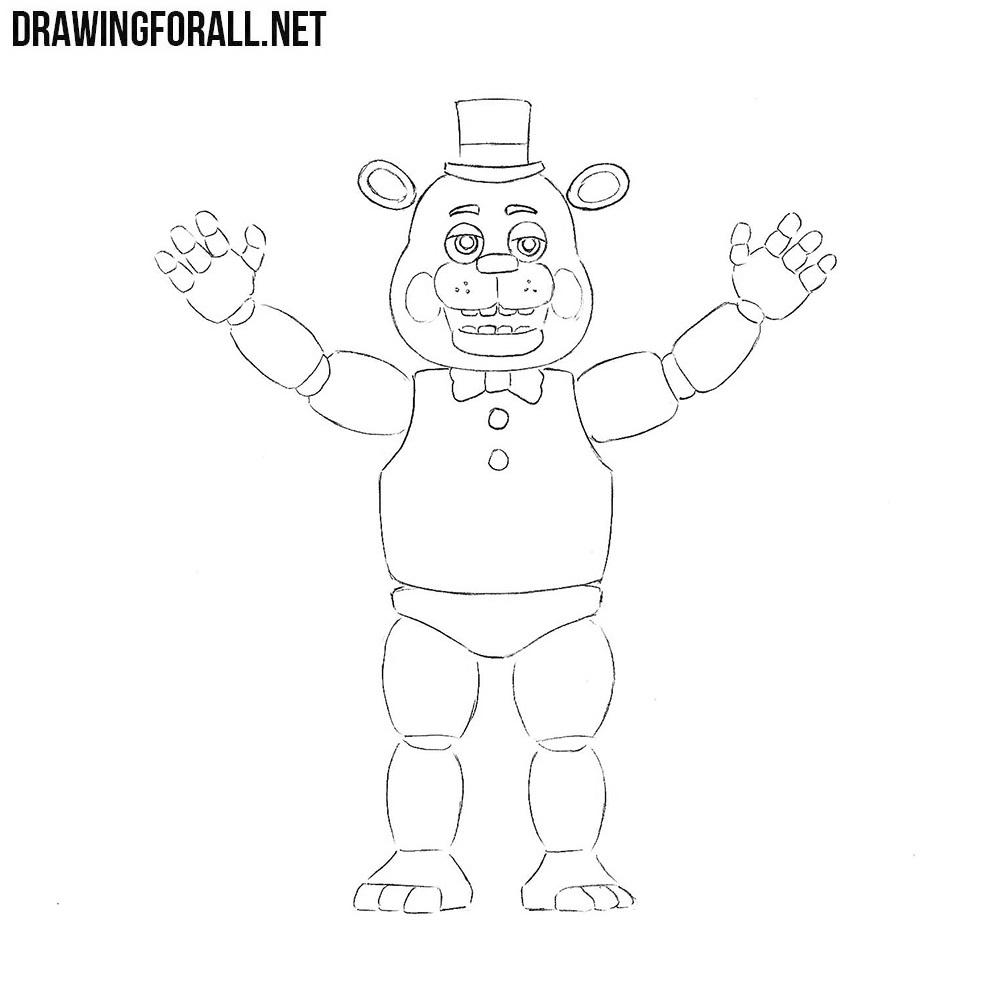 How to Draw Freddy Fazbear