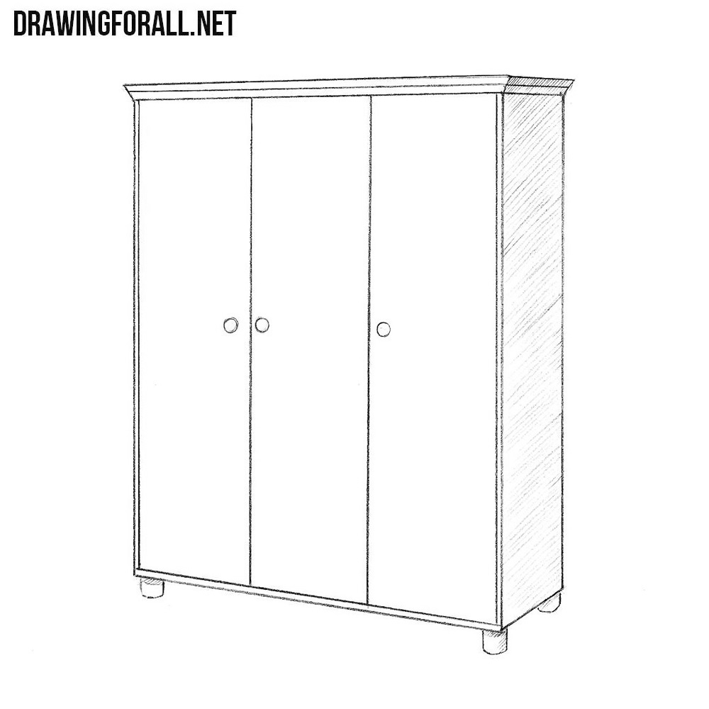 How To Draw A Cupboard Drawingforall Net