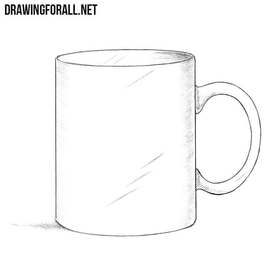 How To Draw A Mug on Hatching Drawing