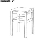How to Draw a Stool Step by Step