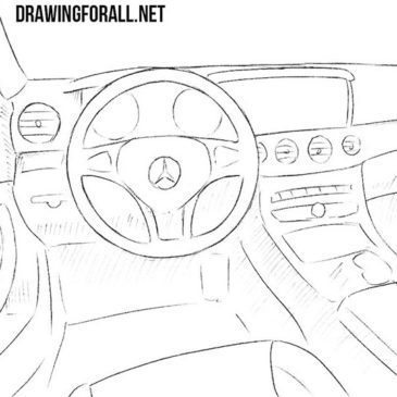 How to Draw a Car Interior