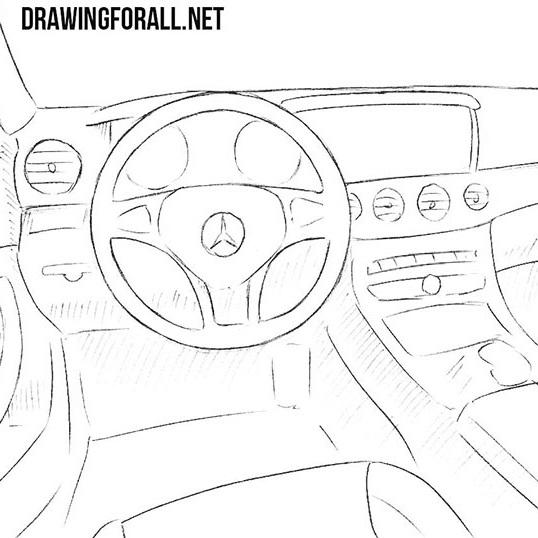 How to Draw a Car Interior