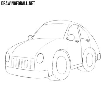 How to Draw a Cartoon Car Easy