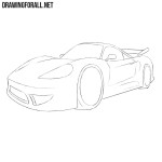 How to Draw a Cartoon Sports Car