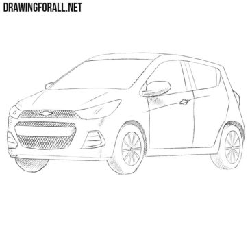 How to Draw a Chevrolet Spark