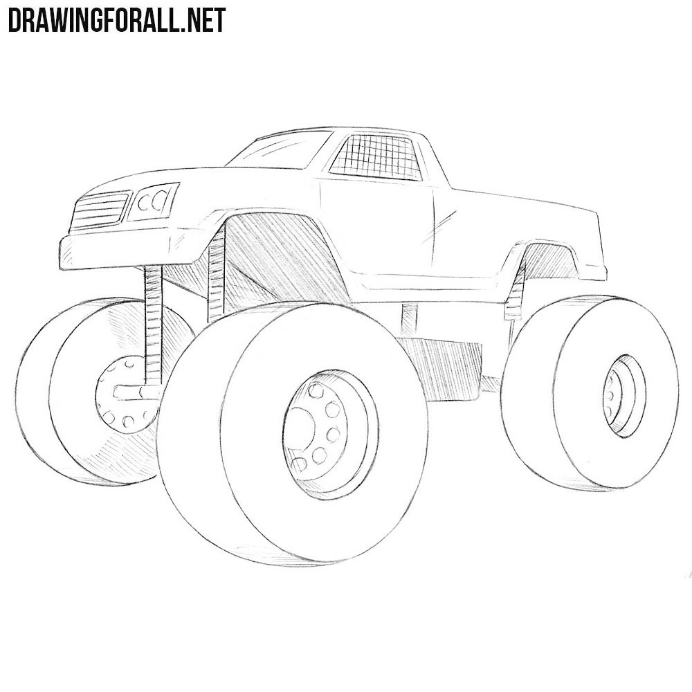 How to Draw a Monster Truck