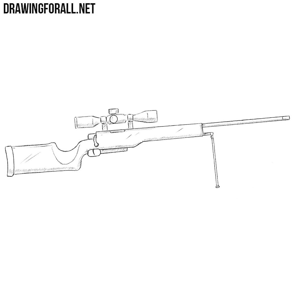 How to draw a sniper rifle drawingforall net