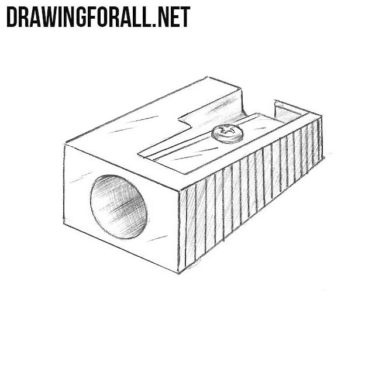 How to Draw a Pencil Sharpener