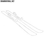 How to Draw Skis
