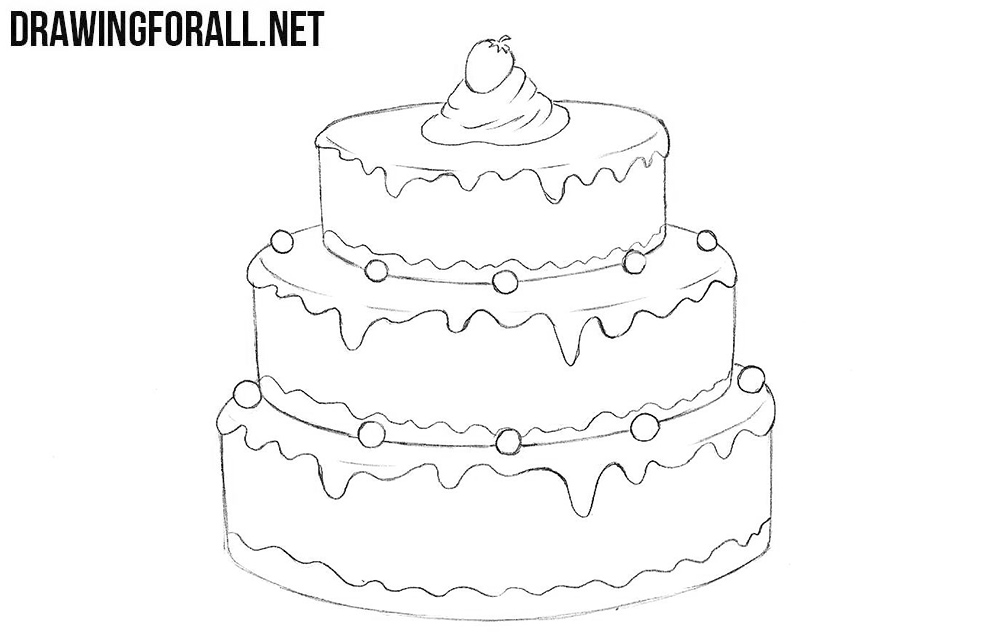 How to Draw a Cake   Drawingforall.net