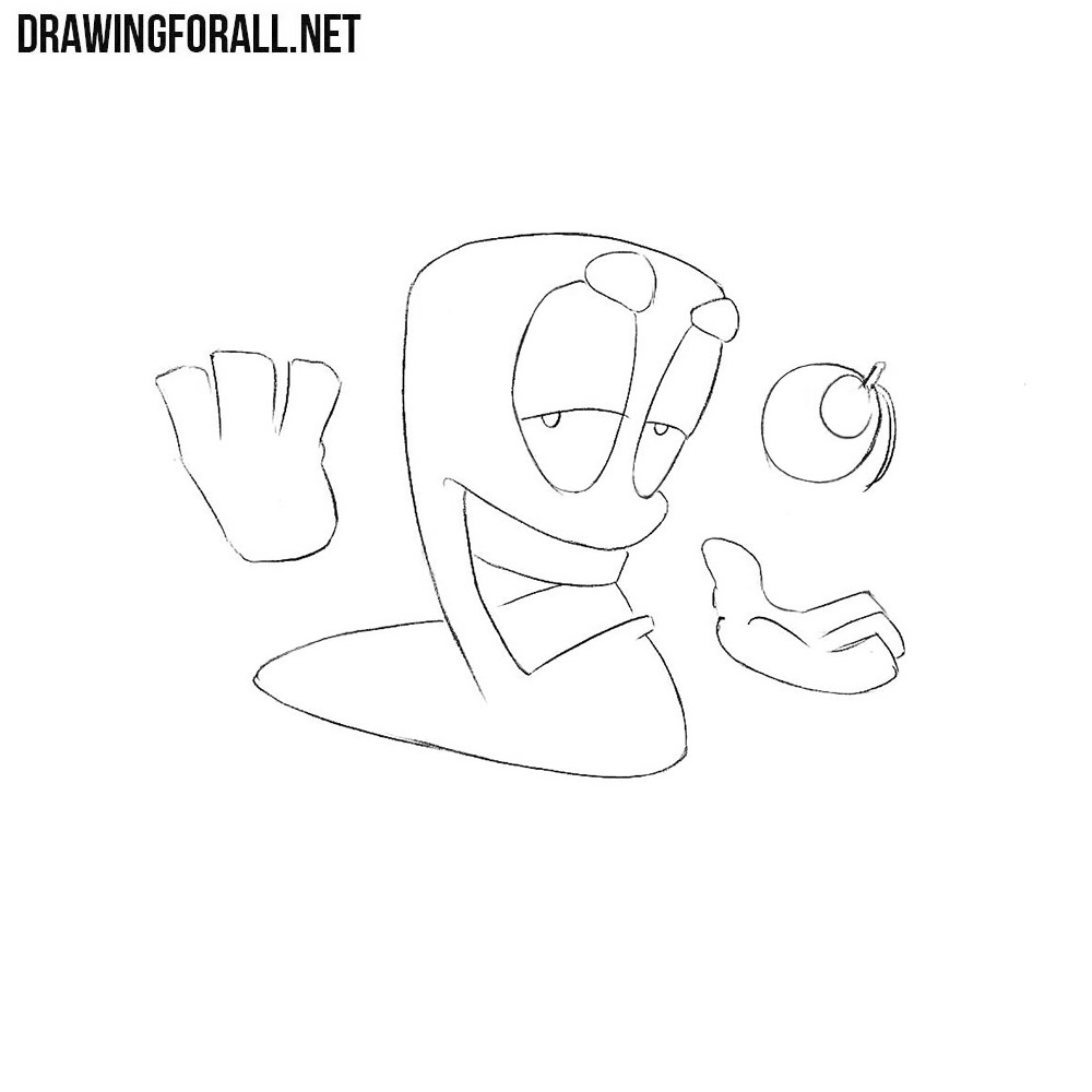 How to Draw a Worm from the Worms Game