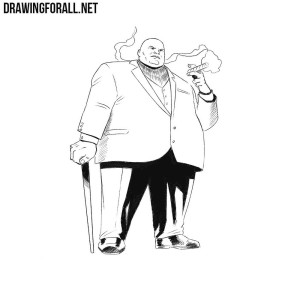 How to draw Kingpin from Marvel Universe