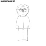 How to Draw Mr. Garrison from South Park