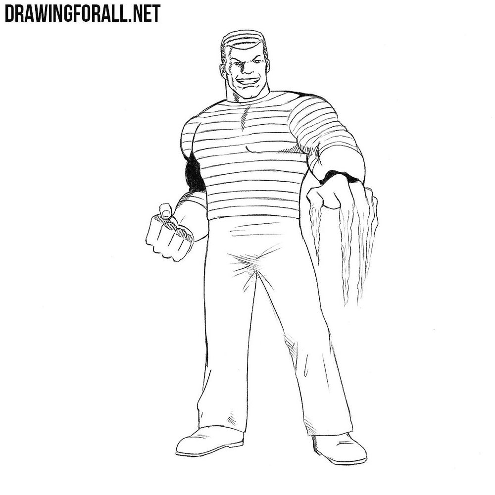 how to draw sandman from marvel