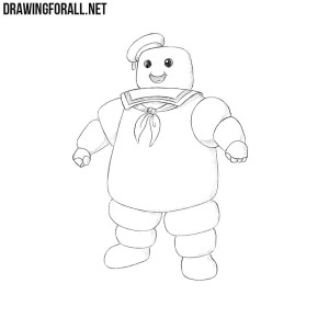 How to draw Stay Puft