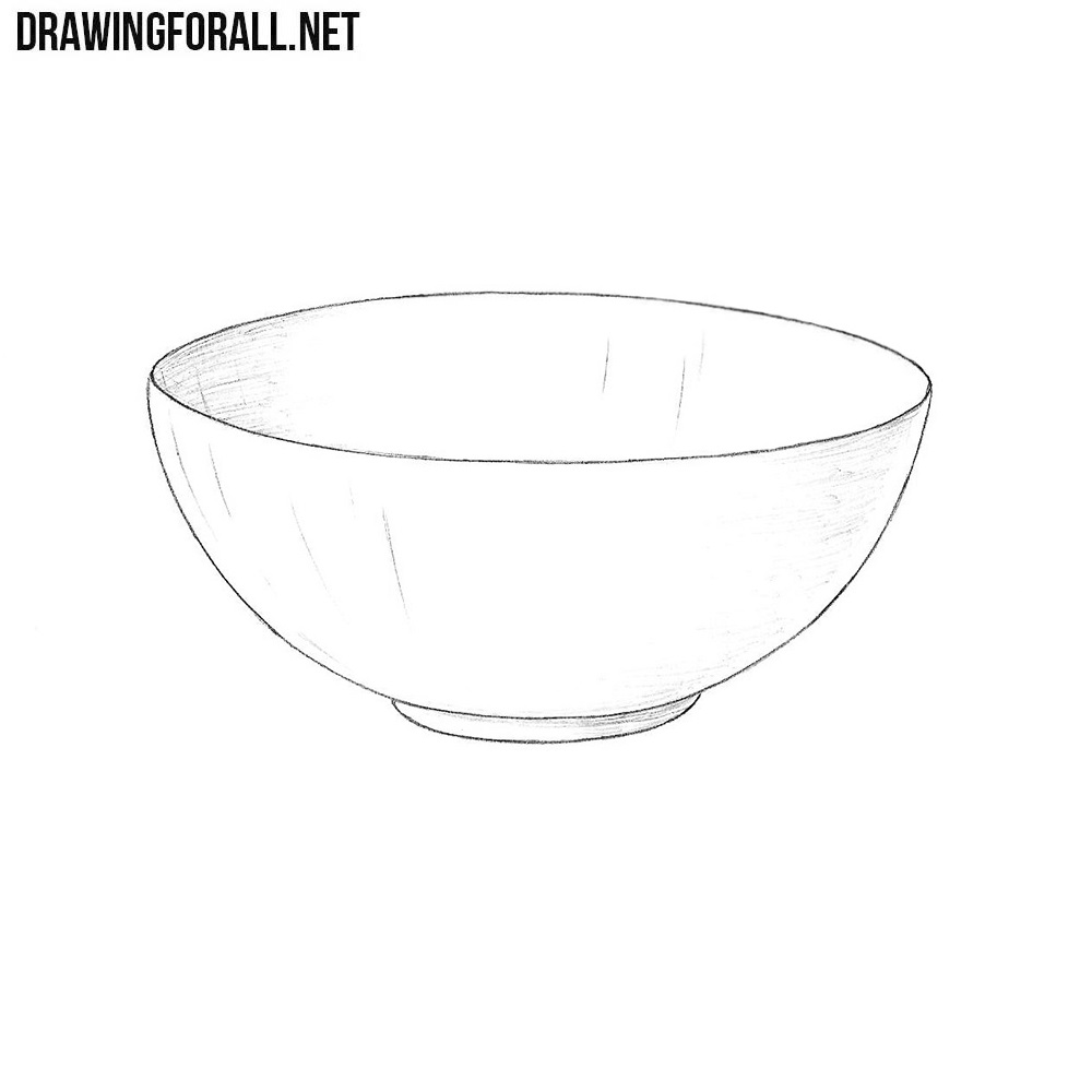 How To Draw A Bowl on Hatching Drawing