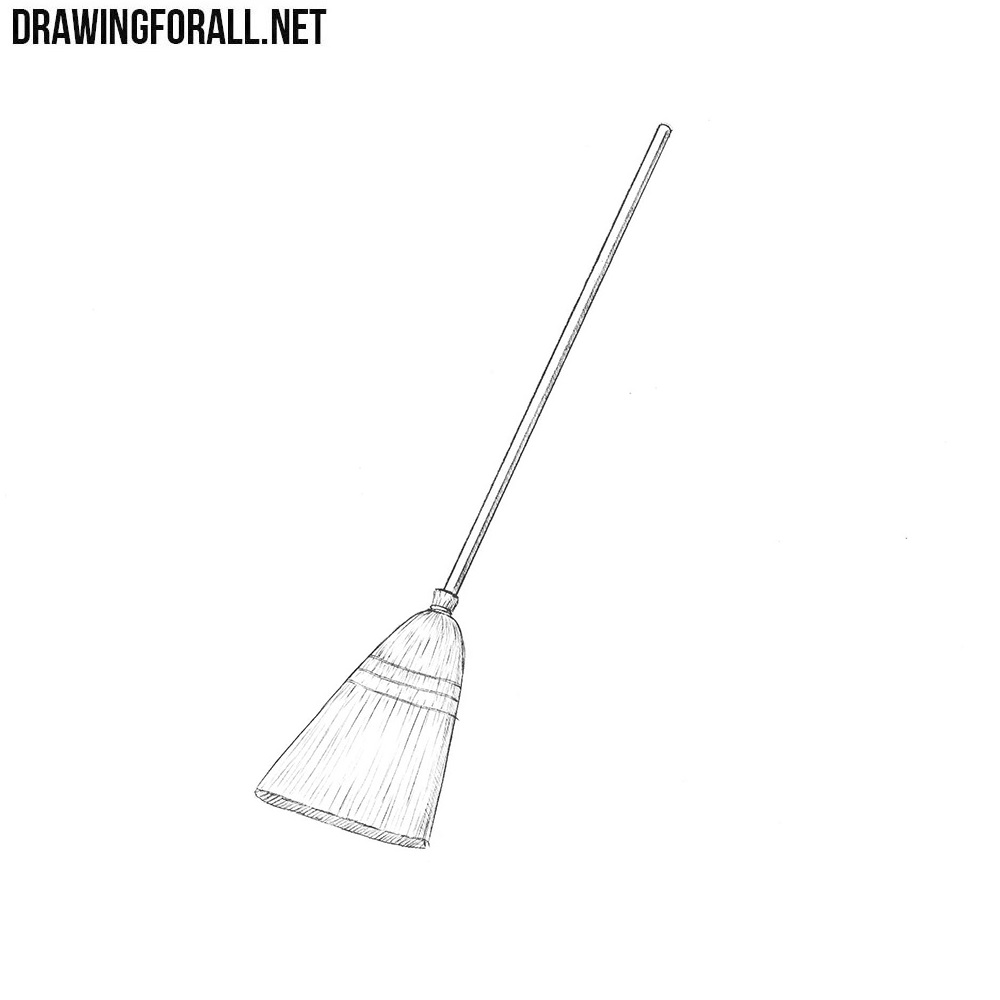 How to Draw a Broom | Drawingforall.net Simple Drawing In Pencil