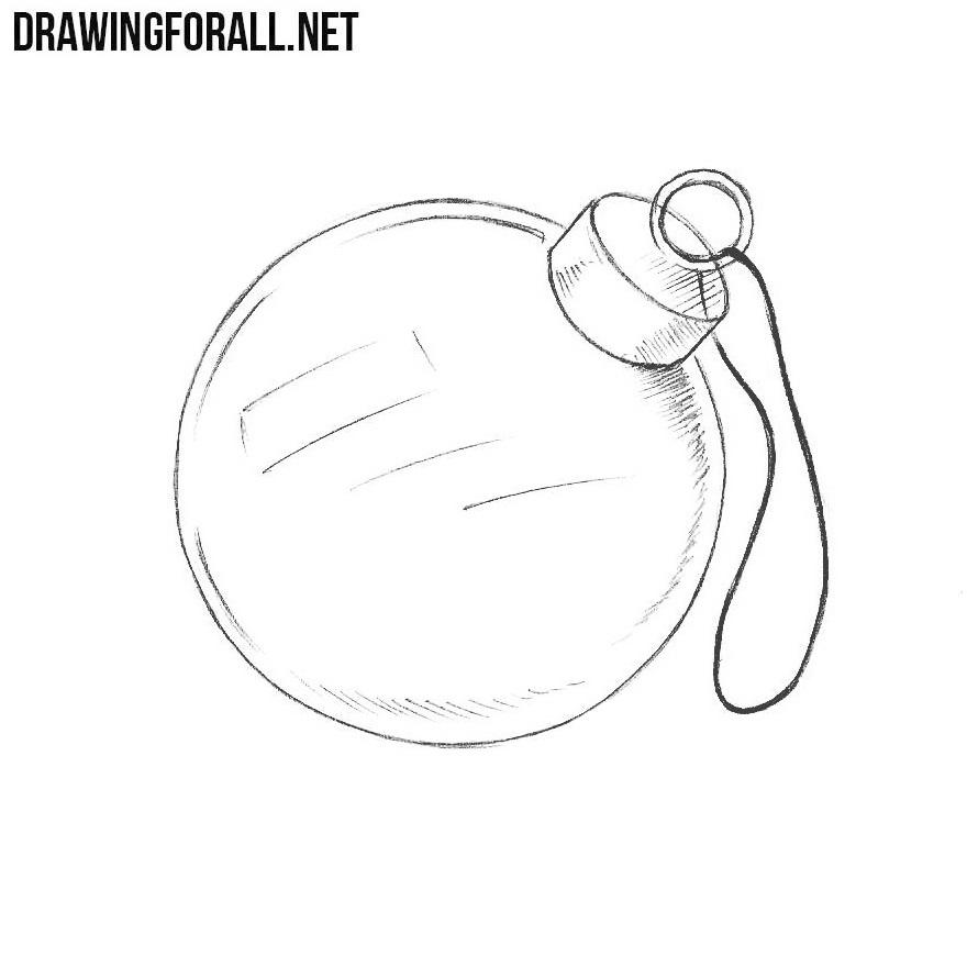 Christmas Drawing.How To Draw A Christmas Ornament Drawingforall Net