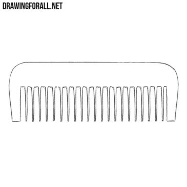 How to Draw a Comb Step by Step