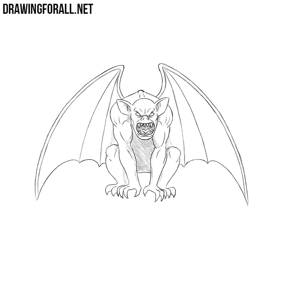 How To Draw A Gargoyle Drawingforall Net