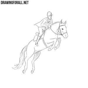 How to draw a horse rider
