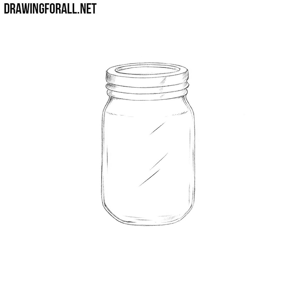 how to draw a jar drawingforallnet