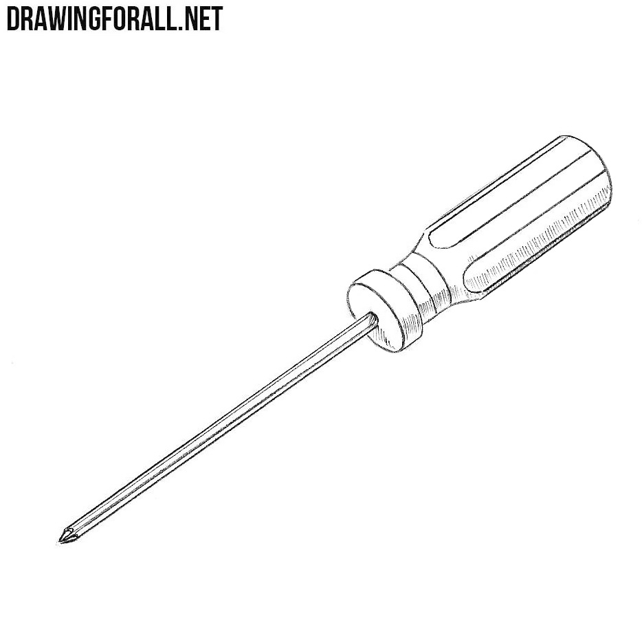 How to Draw a Screwdriver