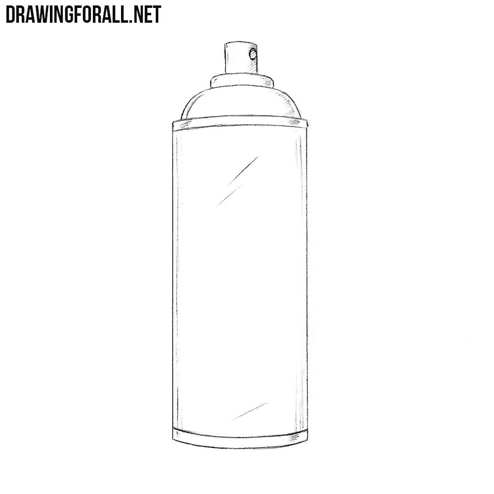 How To Draw A Spray Can Drawingforall Net