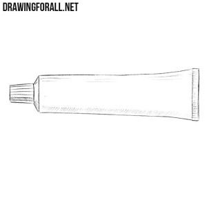 How to draw a toothpaste