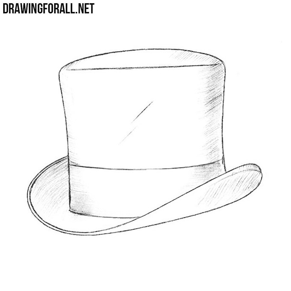 How to Draw a Top Hat | Drawingforall.net
