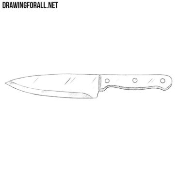How to Draw a Kitchen Knife