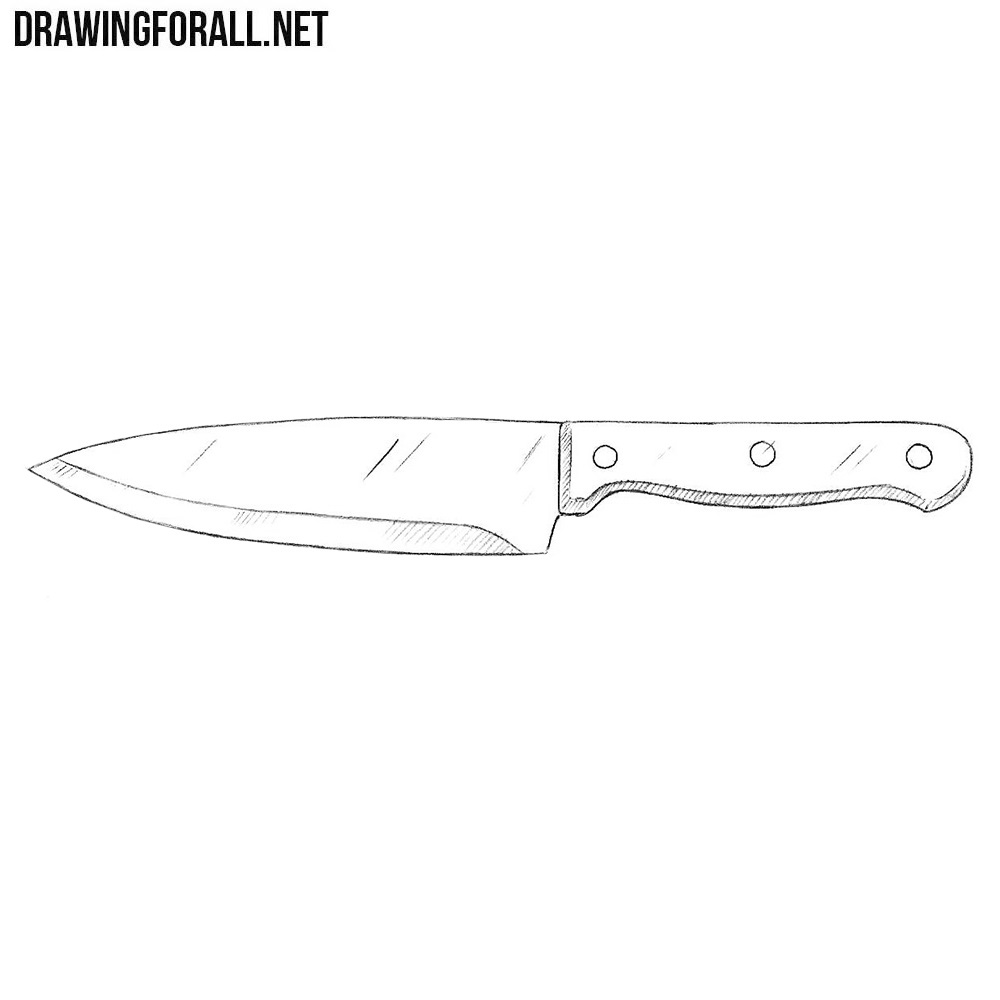 It is a graphic of Crafty Drawing Of Knife