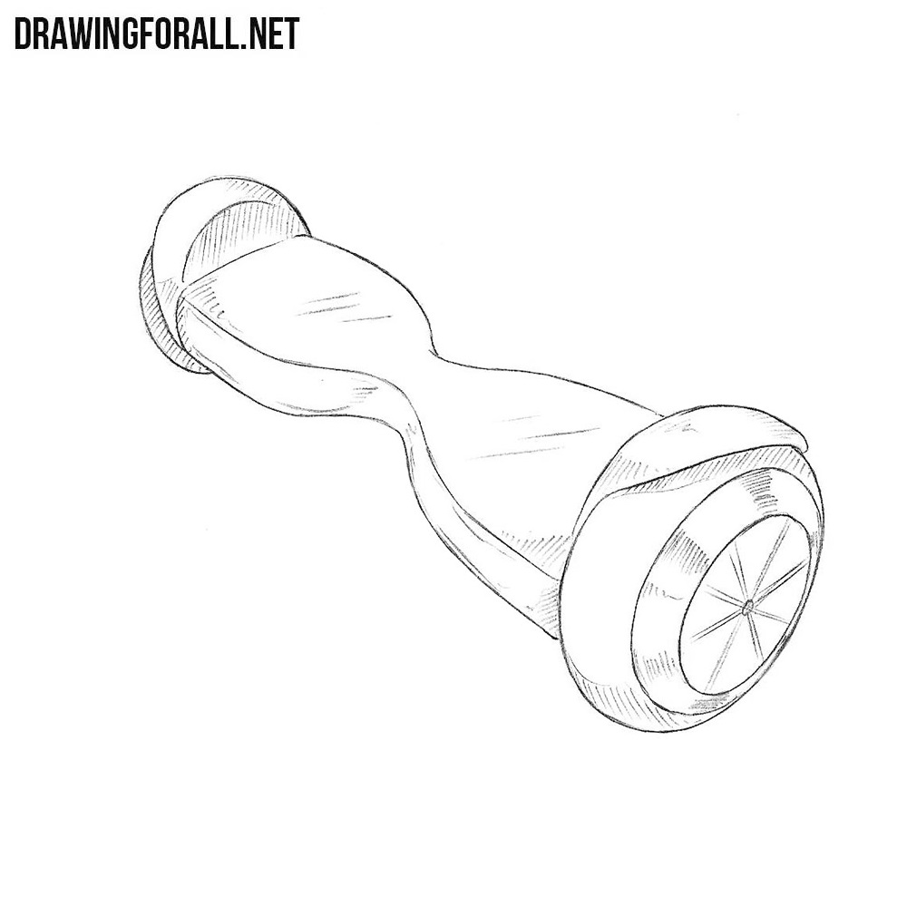 How to Draw a Hoverboard | Drawingforall.net