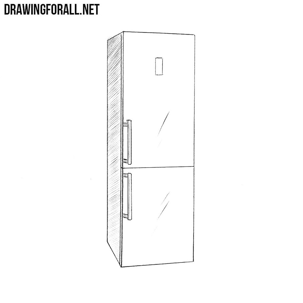 How To Draw A Refrigerator Drawingforall Net